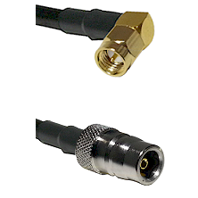 SMA Right Angle Male on LMR200 UltraFlex to QN Female Cable Assembly