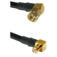 SMA Right Angle Male on LMR200 UltraFlex to MCX Right Angle Male Cable Assembly