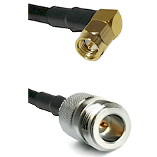 SMA Right Angle Male on LMR200 UltraFlex to N Reverse Polarity Female Cable Assembly