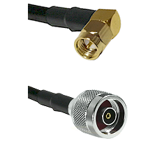 SMA Right Angle Male on LMR200 UltraFlex to N Reverse Polarity Male Cable Assembly