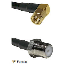 SMA Right Angle Male Connector On LMR-240UF UltraFlex To F Female Connector Cable Assembly