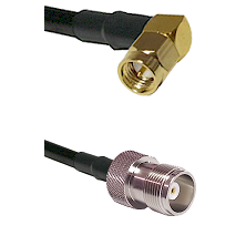 SMA Right Angle Male Connector On LMR-240UF UltraFlex To HN Female Connector Cable Assembly