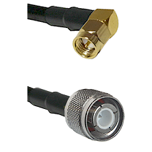 SMA Right Angle Male Connector On LMR-240UF UltraFlex To HN Male Connector Cable Assembly