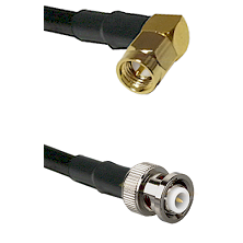 SMA Right Angle Male Connector On LMR-240UF UltraFlex To MHV Male Connector Cable Assembly