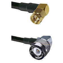 SMA Right Angle Male Connector On LMR-240UF UltraFlex To C Right Angle Male Connector Coaxial Cable