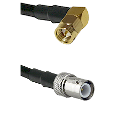 SMA Right Angle Male on LMR240 Ultra Flex to BNC Reverse Polarity Female Cable Assembly