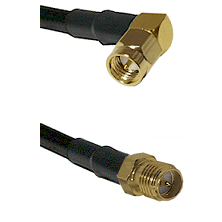 SMA Right Angle Male on LMR240 Ultra Flex to SMA Reverse Polarity Female Cable Assembly
