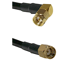 SMA Right Angle Male on LMR240 Ultra Flex to SMA Reverse Polarity Male Cable Assembly