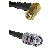 SMA Right Angle Male on LMR240 Ultra Flex to TNC Reverse Polarity Female Cable Assembly