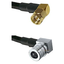 SMA Right Angle Male on LMR240 Ultra Flex to QMA Right Angle Male Cable Assembly