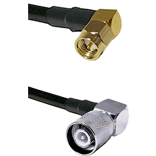 SMA Right Angle Male Connector On LMR-240UF UltraFlex To SC Right Angle Male Connector Coaxial Cable