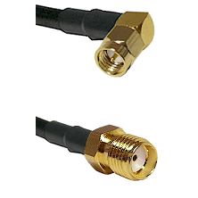SMA Right Angle Male Connector On LMR-240UF UltraFlex To SMA Reverse Thread Female Connector Coaxial