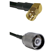 SMA Right Angle Male Connector On LMR-240UF UltraFlex To SC Male Connector Cable Assembly