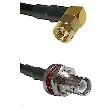 SMA Right Angle Male Connector On LMR-240UF UltraFlex To SHV Bulkhead Jack Connector Coaxial Cable A