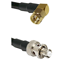 SMA Right Angle Male Connector On LMR-240UF UltraFlex To SHV Plug Connector Cable Assembly