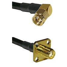SMA Right Angle Male Connector On LMR-240UF UltraFlex To SMA 4 Hole Female Connector Coaxial Cable A