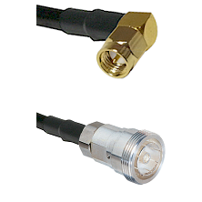 SMA Right Angle Male on RG142 to 7/16 Din Female Cable Assembly