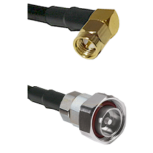 SMA Right Angle Male on RG142 to 7/16 Din Male Cable Assembly