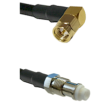 SMA Right Angle Male on RG142 to FME Female Cable Assembly