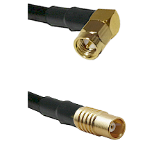 SMA Right Angle Male on RG142 to MCX Female Cable Assembly