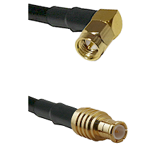 SMA Right Angle Male on RG142 to MCX Male Cable Assembly