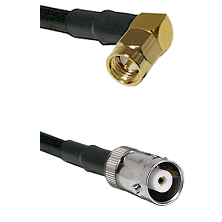 SMA Right Angle Male on RG142 to MHV Female Cable Assembly
