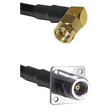 SMA Right Angle Male on RG142 to N 4 Hole Female Cable Assembly