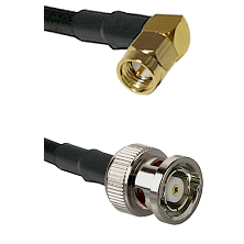 SMA Right Angle Male on RG142 to BNC Reverse Polarity Male Cable Assembly