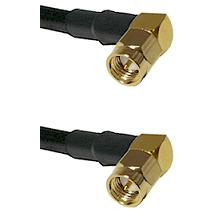 SMA Right Angle Male Plug on RG401 .250 Tin-Braided Conformable Coax to SMA Right Angle Male Plug 36