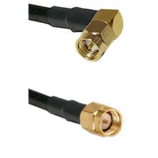 SMA Right Angle Male Plug on RG174A/U to SMA Male Plug 48 inches long Coaxial / RF cable