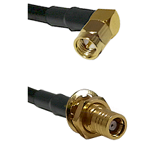 Right Angle SMA Male To SMB Female Bulk Head Connectors RG178 Cable Assembly