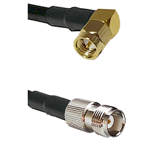 Right Angle SMA Male To TNC Female Connectors RG178 Cable Assembly