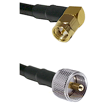 Right Angle SMA Male To UHF Male Connectors RG178 Cable Assembly