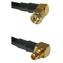SMA Right Angle Male on RG188 to MMCX Right Angle Male Cable Assembly