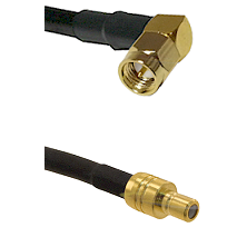 Right Angle SMA Male To SMB Male Connectors RG188 Cable Assembly