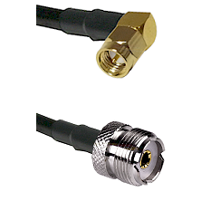 Right Angle SMA Male To UHF Female Connectors RG188 Cable Assembly