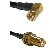 Right Angle SMA Male To SMA Bulk Head Female Connectors RG213 Cable Assembly