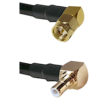Right Angle SMA Male On RG223 To Right Angle SMB Male Connectors Coaxial Cable