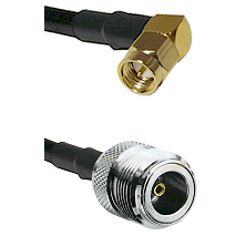 Right Angle SMA Male On RG400 To N Female Connectors Coaxial Cable