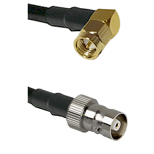SMA Right Angle Male on RG58C/U to C Female Cable Assembly