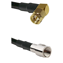 SMA Right Angle Male on RG58C/U to FME Male Cable Assembly