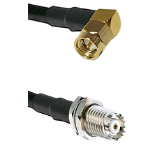 SMA Right Angle Male on RG58C/U to Mini-UHF Female Cable Assembly