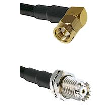 SMA Right Angle Male on RG58C/U to Mini-UHF Female Cable Assembly