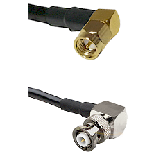 SMA Right Angle Male on RG58C/U to MHV Right Angle Male Cable Assembly