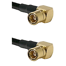 SMB Right Angle Female on Belden 83242 RG142 to SMB Right Angle Female Cable Assembly