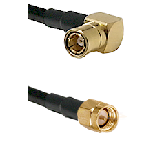SMB Right Angle Female on Belden 83242 RG142u to SMA Male Cable Assembly