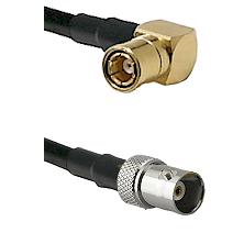 SMB Right Angle Female on LMR100 to BNC Female Cable Assembly