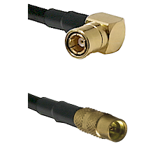 SMB Right Angle Female on LMR100 to MMCX Female Cable Assembly