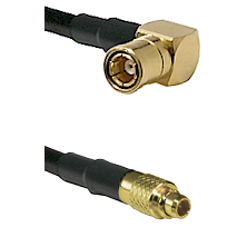 SMB Right Angle Female on LMR100 to MMCX Male Cable Assembly