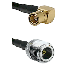 SMB Right Angle Female on LMR100 to N Female Cable Assembly